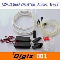 12v ccfl - 2 mm mm LED Angel Eyes Halo Lights CCFL White Non Projector V Headlights for BMW E46 Series sets CARS0730