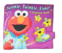Wholesale 2016 Sesame Street Elmo Colorful English Soft Story Cloth Book Early Learning Education Cute Animals Book For Kids Infant Toys