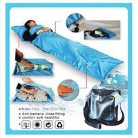 Wholesale High Quality Ultra light Single Polyester Pongee Healthy Sleeping Bag Liner Portable Camping Travel Sleeping Bag Dropshipping