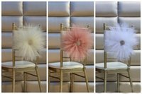 Wholesale Colodful Chair Sash for Weddings with Big D Flowers Chiffon Delicate Wedding Decorations Chair Covers Chair Sashes Wedding Accessories