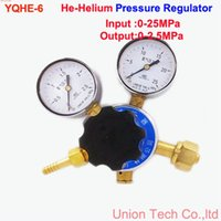 Wholesale Shanghai Regulator Factory YQHE Helium Pressure Regulator IN MPA OUT Mpa gas pressure regulating valve reducer