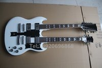 Cheap Free Shipping Custom Shop EDS 1275 Double Neck, Alpine White, Mahogany Body, Electric Guitar By Spring