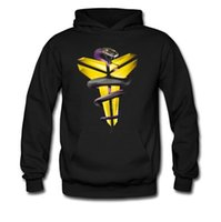 basketball jackets - Men s Black Mamba jersey Kobe Bryant basketball inverted triangle hooded sweater hedging Autumn jacket Peter Pan thick coat sweatshirts