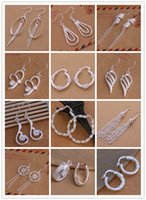 Wholesale Beautiful New Arrive Sterling Silver Jewelry Drop Earrings Brand New Beautif Earrings Dangle Earrings Mix Order