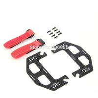 Wholesale Extended Dual Battery Carbon Fiber Mount For DJI Phantom Quadcopter with Straps Screws
