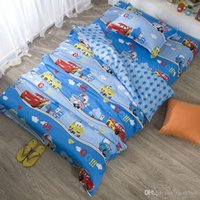 Wholesale cartoon car boys bedding set twin size quilt cover bedsheet pillowcase pc bed sets