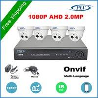 Kit Nuevo HD Producto 4CH AHD 2MP CCTV cubierta Sistema Kit de 4 canales Video Vigilancia Mini cámara domo 1080P AHDH DVR Seguridad