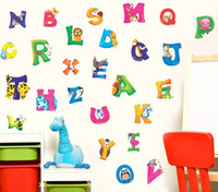 Animals baby nursery stores - A B C D A Z Alphabet Animals Wall Sticker Decals Decor baby Decor Kids Peel and Stick Gifts for children Nursery Store