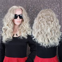 Cheap 6A Grade Brazilian #60 light Blonde natural curl Full Lace Wigs Unprocessed Human Hair body wave Glueless Front lace Wig