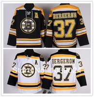 Wholesale 37 Patrice Bergeron Jersey Boston Bruins Black White Yellow Finals Best NWT Sewing All Players All Size Bruins Jersey For Fans