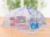 Wholesale Food Covers Umbrella Style Anti Fly Mosquito Kitchen cooking Tools meal cover Hexagon gauze table mesh food cover