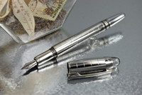 Wholesale High Quality Metal Pen StarWaker Silver Checkerd Metal Pen Lattice Fountain Pen Luxury Pen No Box