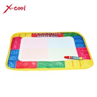Wholesale Hot XC8866 X19cm color Mini Water Drawing Mat Aquadoodle Mat Magic Pen Water Drawing board baby play mat