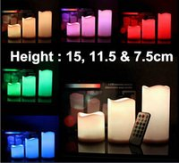 april wax - High Imitation Candles Size cm cm Color Changing Remote Control Timer Wax Candle Party Decoration DHL Freeshipping order lt no