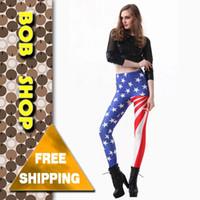 american flag shop - w1209 Bob shop American flag print Leggings Black Milk Leggings women high waist leggings and