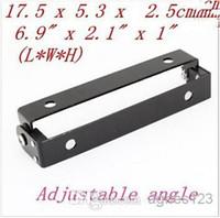 angle iron sales - Motorcycle Automobile Adjustable Angle Black Metal License Plate Holder Bracket hot sale
