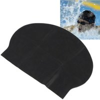 Wholesale IMC New Black Stylish Flexible Light Durable Sporty Swim Swimming Thin Hat Caps order lt no track