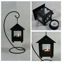 Wholesale 2014 NEW black Wrought iron candlestick Morocco retro wedding lantern Romantic arts crafts christmas gift Furnishing articles topB937