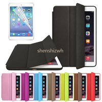 Wholesale Original Official Slim Leather Magnetic Smart Cases Cover For iPad Mini and For ipad air air and for ipad pro2