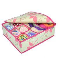 Wholesale More cells underwear sock storage box foldable storage box bag home organizer box case Bra cover storage box Supply multi fold