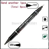 Wholesale Marker pens good Waterproof ink Thin Nib Crude nib Black New Portable finecolour permanent copic marker pen A5