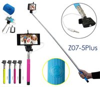 aluminium wires - Z07 S Selfie Monopod Sticks w cable Extendable Aluminium Handheld Monopod Tripod Extender Stick mm wired for all Cell Phones