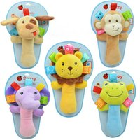 Wholesale Hot Selling Funny Dog Varita Plush Baby Developmental Rattles Beep Toy Dolls Multi function baby animals hand stick BB