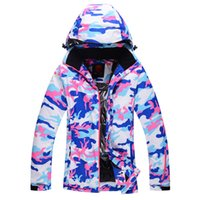 Wholesale New Women Skiing Coats Winter Snowboard Jacket Waterproof Windproof Outdoor Sports Ski Jacket Thermal Cotton padded Sport Clothes