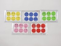 Wholesale Summer Mosquito Killer Smile Face Mosquito Repellent Stickers pack packs