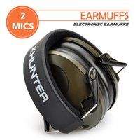 Wholesale Xhunter Foldable Shooting Hunting Electronic Earmuffs W Input Jack Ear Muffs