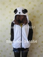 Japon Lovely Costume noir blanc Panda Face Oreille Hoodie Hoody Sweatshirt Costume