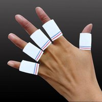 basketball finger bands - 10pcs set Sport Finger Splint Guard Bands Bandage Support Wrap Basketball Volleyball Football Fingerstall Sleeve Caps Protector