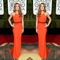 amy adams - 2016 The rd Golden Globe Awards Amy Adams Celebrity Dresses Jewel Sleeveless New Arrival Evening Dresses Cheap Formal Gowns