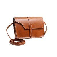 Wholesale S5Q Woman Luxury PU Leather Small Shoulder Bag Wind Handbag Messenger Mini Bag AAAFSM