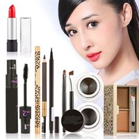 Wholesale 1 Set New Makeup Comestic Beauty Kit Make Up Eyeliner Eyeshadow Pencil Lipstick Mascara Makeup Set