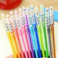 Wholesale 12pcs Colored Gel Pen Girls Painting Pen Cartoon Fresh Candy Colors Stationery Pens Writing Supplies