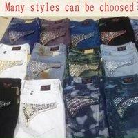 cheap jeans for men - Cheap Men Straight Jeans Classic Denim Trousers Robin Jeans For Men High Quality Cotton Jeans Fried Snow Slim Jeans Rhinestone Decoration