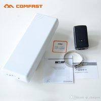 achat en gros de wifi extérieur amplificateur de puissance-2.4Ghz WIFI Signal Booster Amplificateur 2.4GHz WIFI Wireless Outdoor Router 802.11G CPE / B / NCOMFAST CF-E214N