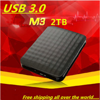 Cheap free shipping New 2014 samsung M3 2TB hd externo portable external hard disk drive USB 3.0 hdd