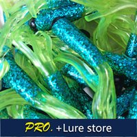 Wholesale soft squid baits colorful freshwater lure tube baits black head soft artificial pesca worm grub squid lures