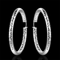 Wholesale high quality sterling silver Plated Hoop Earrings fashion jewelry E592