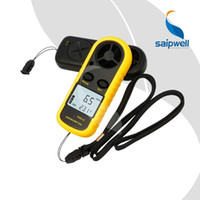 Wholesale Saipwell LCD Digital Hand held Wind Speed Gauge Meter Measure Anemometer Thermometer GM816