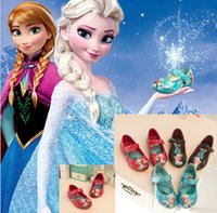 Wholesale NEW Frozen children leather shoes Anna Elsa Pu princess shoes Korean casual baby shoes toddler girls single shoes pairs AE