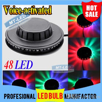 Wholesale DHL LED Mini Auto Voice activated Rotating Party Lighting Sunflower LED Lights RGB Disco DJ KTV Stage Lidht