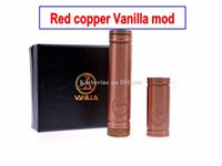 Wholesale Red Copper Vanilla Red Copper Material Mech Mod Vanilla Mechanical Mod Clone for Thread Atomizer as Stingray Mod Battery Tube Hot Item