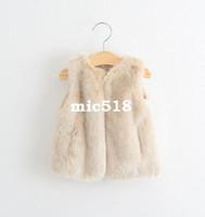 american leather jackets - vest jacket kids autumn winter Girls fur vest fashion high grade brand Children s clothes wholesal