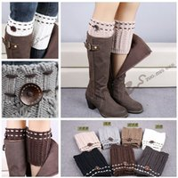 acrylic boots - 7 color New Hot Sale Boot Cuff Fashion Knitted Boot Cuff Lady Crochet leg warmers New Crochet Boot Cuff Wheat Crochet Boot Cuff LJJD3433