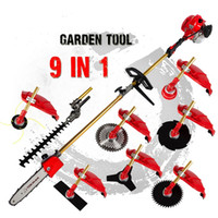 grass trimmer - Multi brush cutter grass trimmer lawn mower tree pruner several blades bump feed head