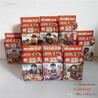 Wholesale 8pcs The Walking Dead Action Figure Minifigures JX1004 JX1005 Building Blocks Model Educational Toys For Children