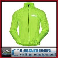 Wholesale unisex cycling wind rain jacket green M L XL XXL XXXL microfiber summer winter windproof waterproof cycling clothing freeship